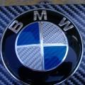BMW ボンネットエンブレムをリアルカーボンに!!