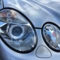 ベンツW211 Eクラス ヘッドライトレンズのくすみ、黄ばみをレンズ交換で新車のように!