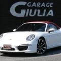 H.24(2012)年  ポルシェ  911カブリオレ  カレラ  ワンオーナー D車 20インチカレラクラ