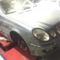 ベンツ W211Eクラス 足回り異音の修理 W220,W221,W219CLSなども 神戸